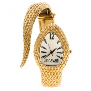 Just Cavalli Silver White Gold Serpent Bracelet Poison Women's Wristwatch 27 mm