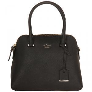 Kate Spade Black Leather Cameron Street Maise Satchel Bag