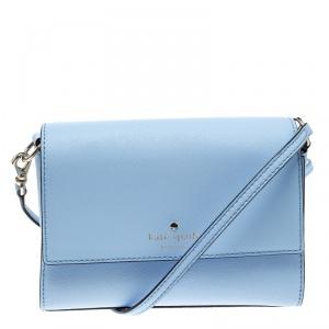 Kate Spade Sky Blue Leather Cameron Street Arielle Crossbody Bag