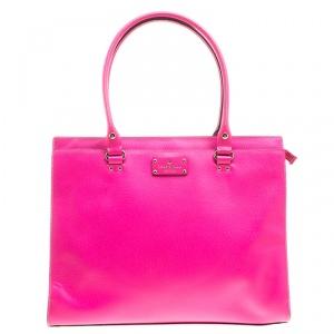 Kate Spade Pink Leather Wellesley Kory Work Tote