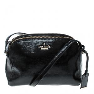 Kate Spade Black Patent Leather Crossbody Bag