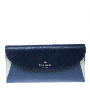 Kate Spade Tricolor Leather Flap Continental Wallet