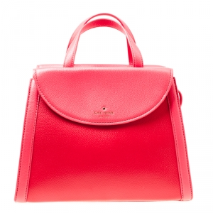 Kate Spade Red/Pink Leather Cobble Hill Adrien Top Handle Bag