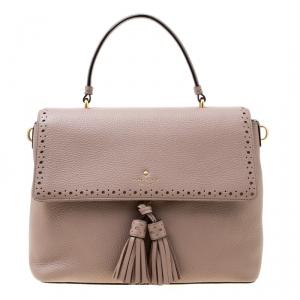 Kate Spade Taupe Leather James Street Sparrow Top Handle Bag