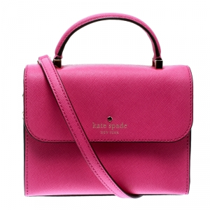 Kate Spade Pink Leather Mini Nora Top Handle Bag