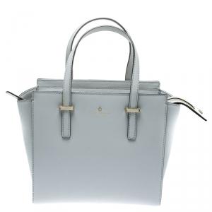 Kate Spade Grey Leather Small Cedar Street Hayden Top Handle Bag