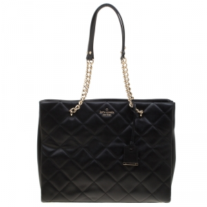 Kate Spade Black Quilted Leather Emerson Place Phoebe Tote