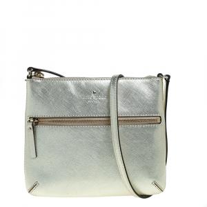 Kate Spade Gold Leather Tenley Cross Body Bag