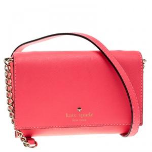 Kate Spade Pink Leather Cedar Street Cami Crossbody Bag