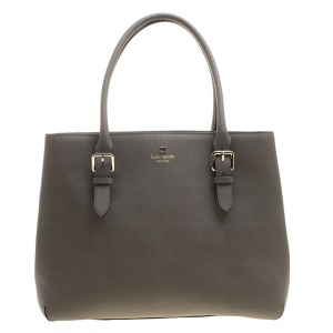 Kate Spade Grey Leather Cove Street Airel Tote