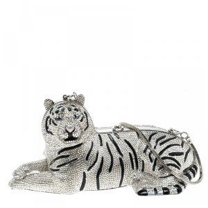 Kate Spade Rhinestone Crystal Place Your Bets Tiger Clutch
