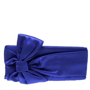 Kate Spade Blue Satin Evening Belles Gini Clutch