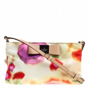 Kate Spade Multicolor Printed Nylon Crossbody Bag