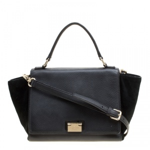 Kate Spade Black Leather and Suede Magnolia Park Top Handle Bag