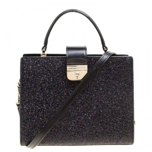 Kate Spade Black Glitter Sunset Lane Mini Kirin Top Handle Bag
