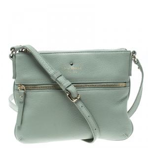 Kate Spade Mint Green Leather Crossbody Bag
