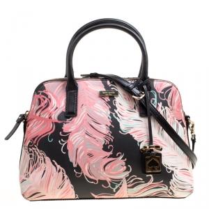 Kate Spade Multicolor Printed Leather Top Handle Bag