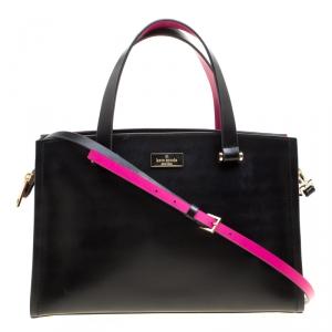 Kate spade Black/Pink Leather Top Handle Bag