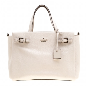 Kate Spade Off White Leather Top Handle Bag