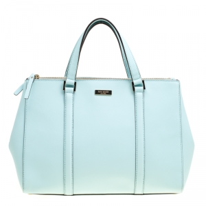 Kate Spade Mint Green Leather Newberry Lane Loden Top Handle Bag