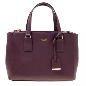 Kate Spade Burgundy Leather Cameron Street Teegan Top Handle Bag