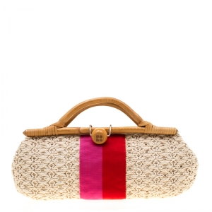 Kate Spade Tri Color Woven Fabric Selby Napoli Clutch