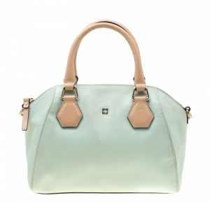 Kate Spade Mint Green/Brown Leather Catherine Street Pippa Satchel