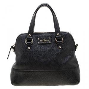 Kate Spade Black Leather Wellesley Rachelle Satchel