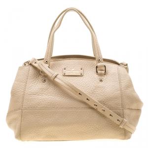 Kate Spade Beige Leather Satchel Bag