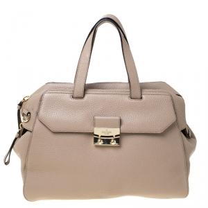 Kate Spade Beige Leather Front Pocket Satchel