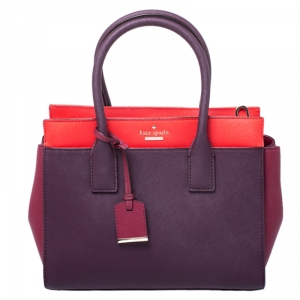 Kate Spade Tricolor Canvas Leather Cameron Street Candace Satchel