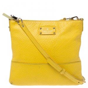 Kate Spade Yellow Leather Crossbody Bag