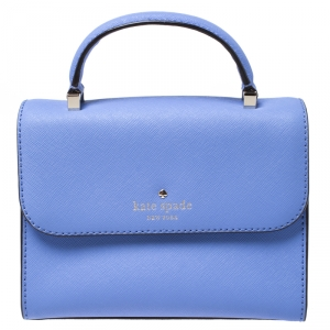 Kate Spade Blue Leather Mini Nora Top Handle Bag