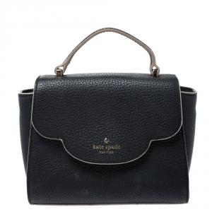 Kate Spade Black Leather Mini Nora Top Handle Bag