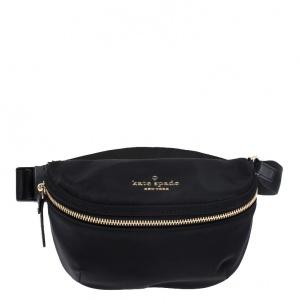 Kate Spade Black Satin Belt Bag