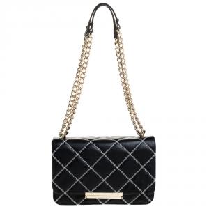 Kate Spade Black Quilted Leather Make It Mine Shoulder Bag