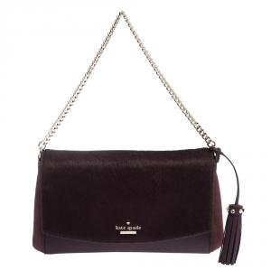 Kate Spade Plump Leather,Suede and Calfhair Laurel Way Greer Shoulder Bag