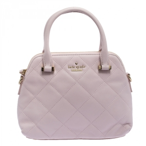 Kate Spade Light Pink Quilted Leather Patterson Drive Dome Satchel
