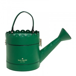 Kate Spade Green Leather Watering Can Bag