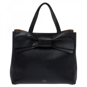 Kate Spade Black Leather Bow Tote