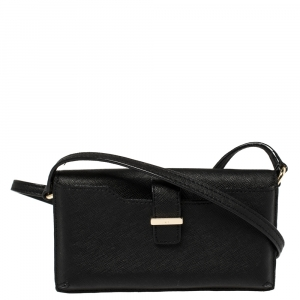 Kate Spade Black Leather Crossbody iPhone Case