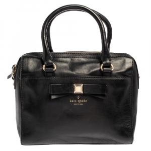 حقيبة كيت سبيد هولي ستريت اشيتون جلد أسود