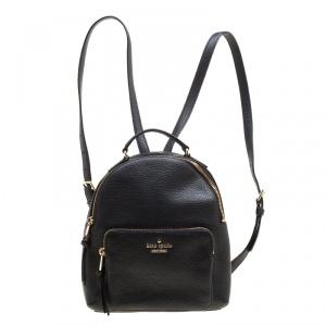 Kate Spade Black Leather Jackson Backpack