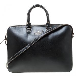 Kate Spade Black Leather Wellesley Laptop Bag