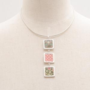 KENZO Silver & Enamel Dangling Necklace
