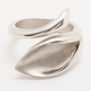 KENZO Calla Flower Silver Ring Size 52