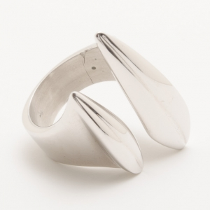 KENZO Leaves Silver Wrap Around Ring Size 56
