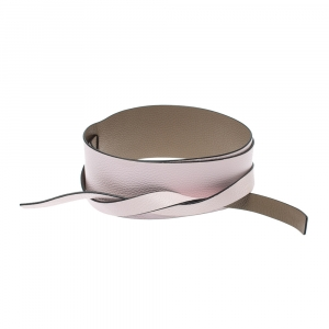 Kenzo Light Pink/Dark Beige Leather Reversible Wrap Waist Belt