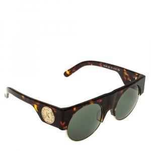 Kenzo Brown Tortoise/Green KZ3188 Round Sunglasses