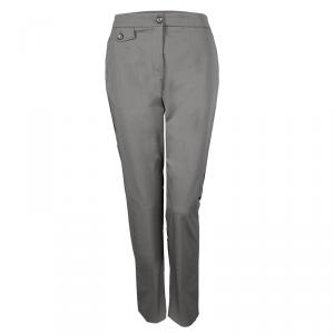 Kenzo Grey Cotton Tailored Trousers L